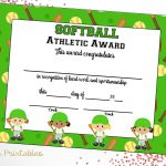 Softball Certificate Of Achievement Softball Award Print | Etsy   Free Printable Softball Award Certificates