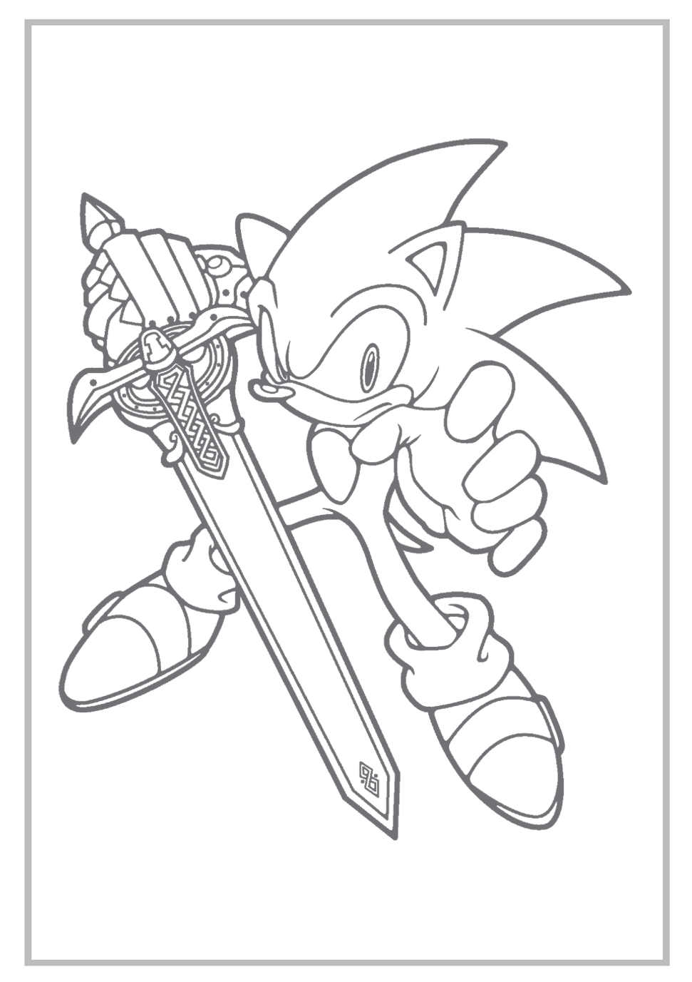 Sonic Coloring Pages   Sonic The Hedgehog Coloring Pages Free - Sonic Coloring Pages Free Printable