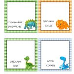 Southern Blue Celebrations: Free Dinosaur Food Tent Labels   Free Printable Dinosaur Labels