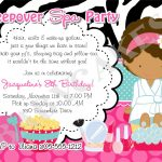 Spa Birthday Party Invitations Pri Cool Free Apps For Birthday   Free Printable Spa Party Invitations Templates