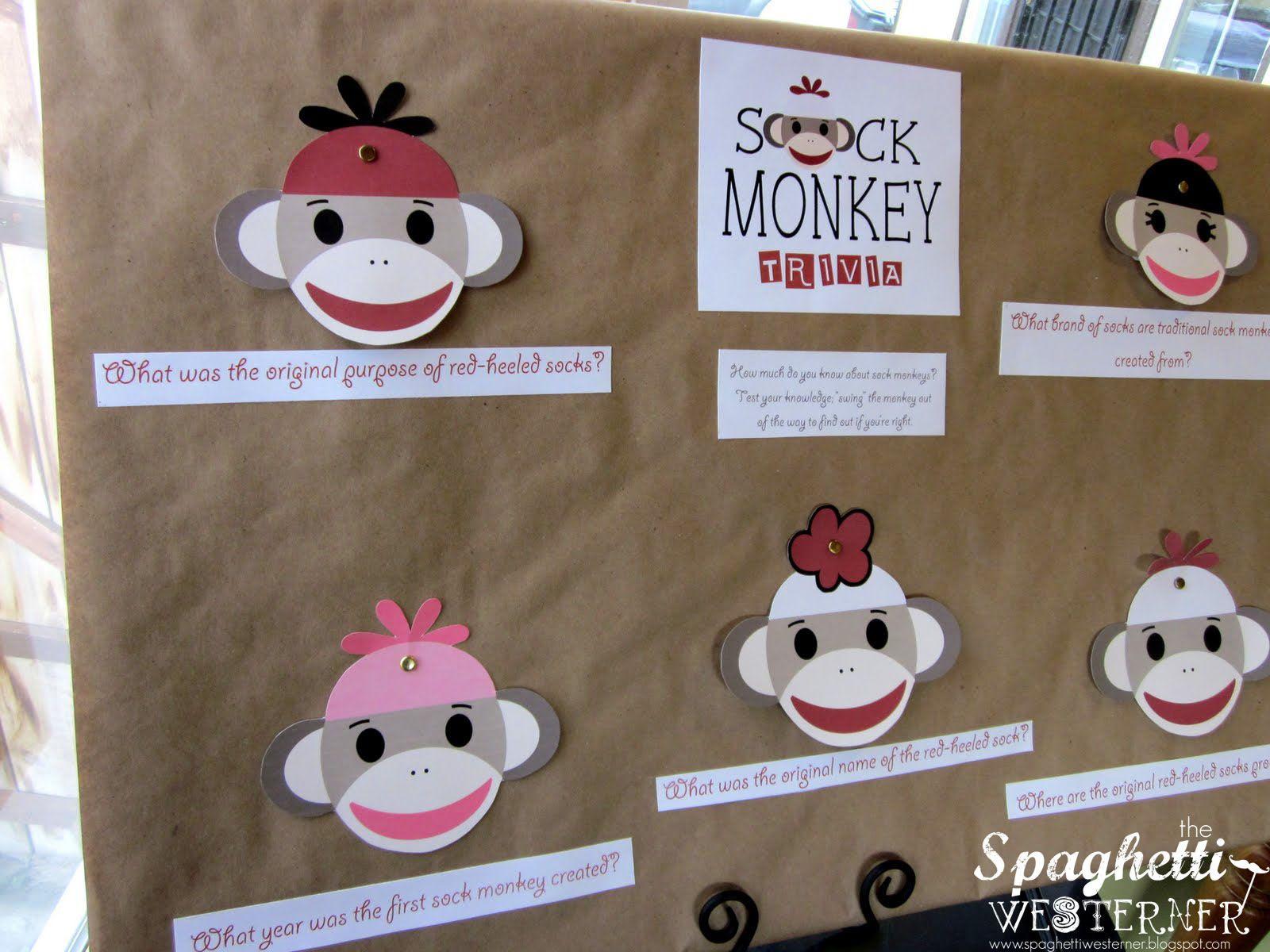 Spaghetti Westerner: {Free Printables} Sock Monkey First Birthday - Free Printable Sock Monkey Pictures