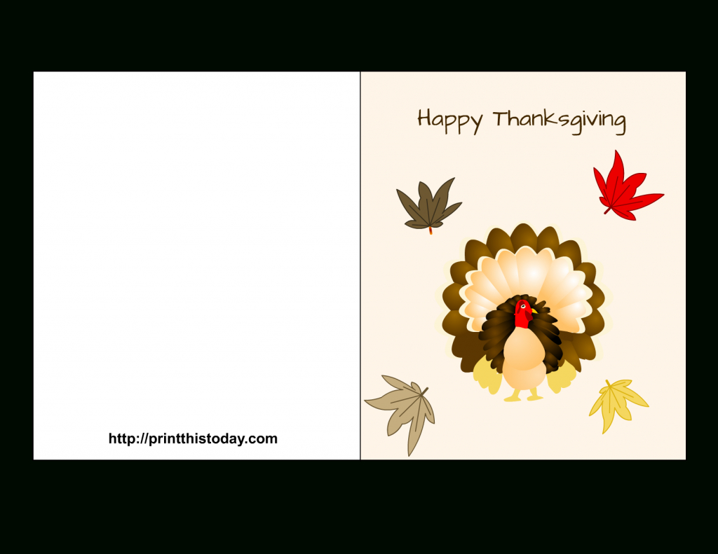"Special ""happy Thanksgiving Cards"" Printable For Parents & Friends - Free Printable Thanksgiving Cards"