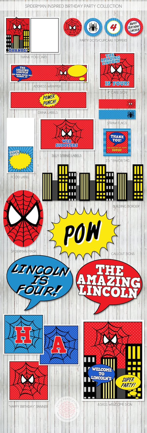 Spiderman Birthday Party - Free Printable Spiderman Pictures