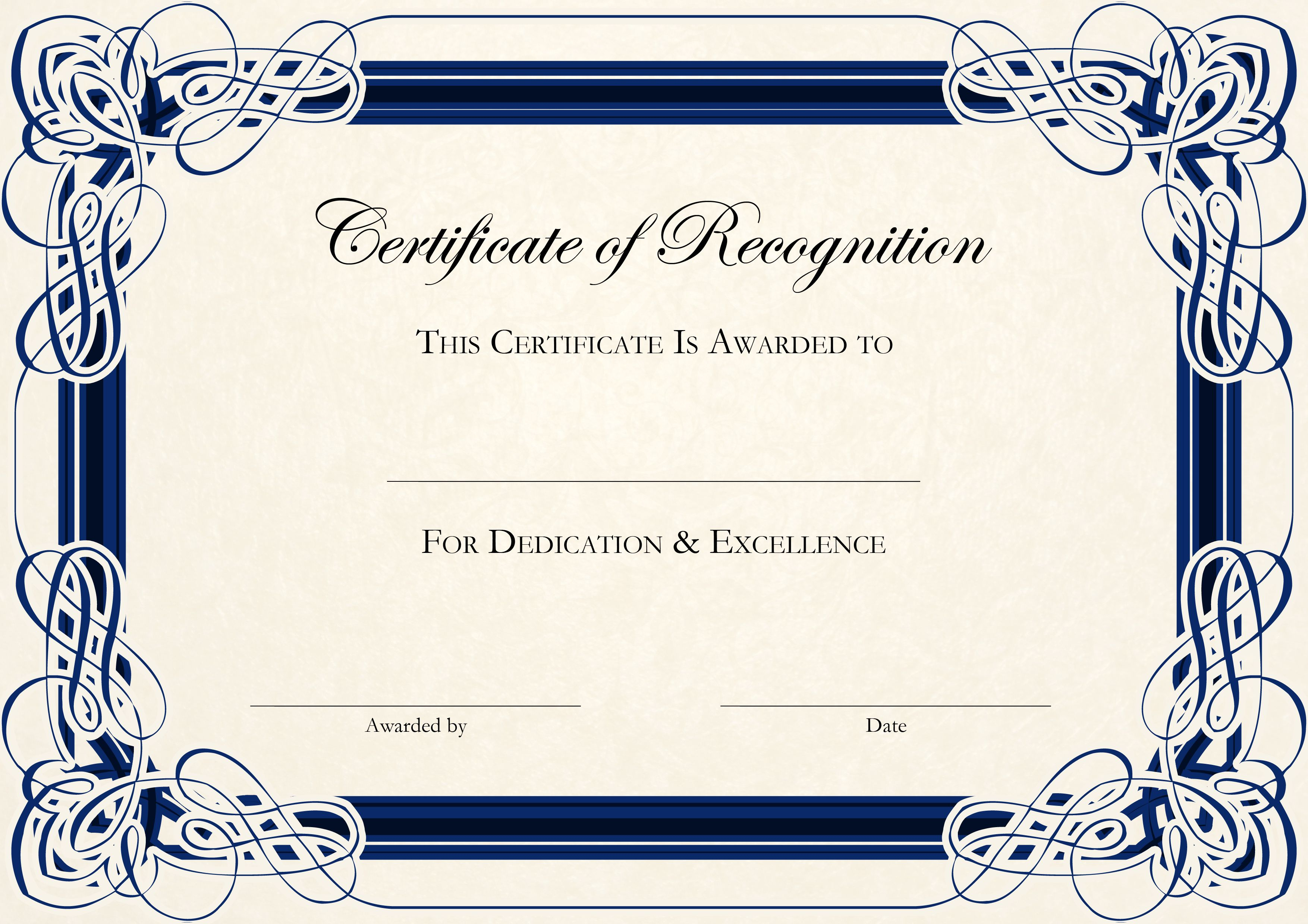 Sports Cetificate | Certificate Of Recognition A4 Thumbnail - Sports Certificate Templates Free Printable