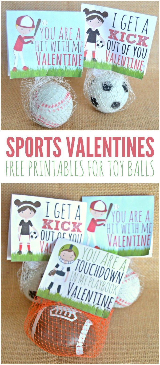 Sports Valentines Printables - Candy Free Valentine's Day Ideas - Free Printable Football Valentines Day Cards