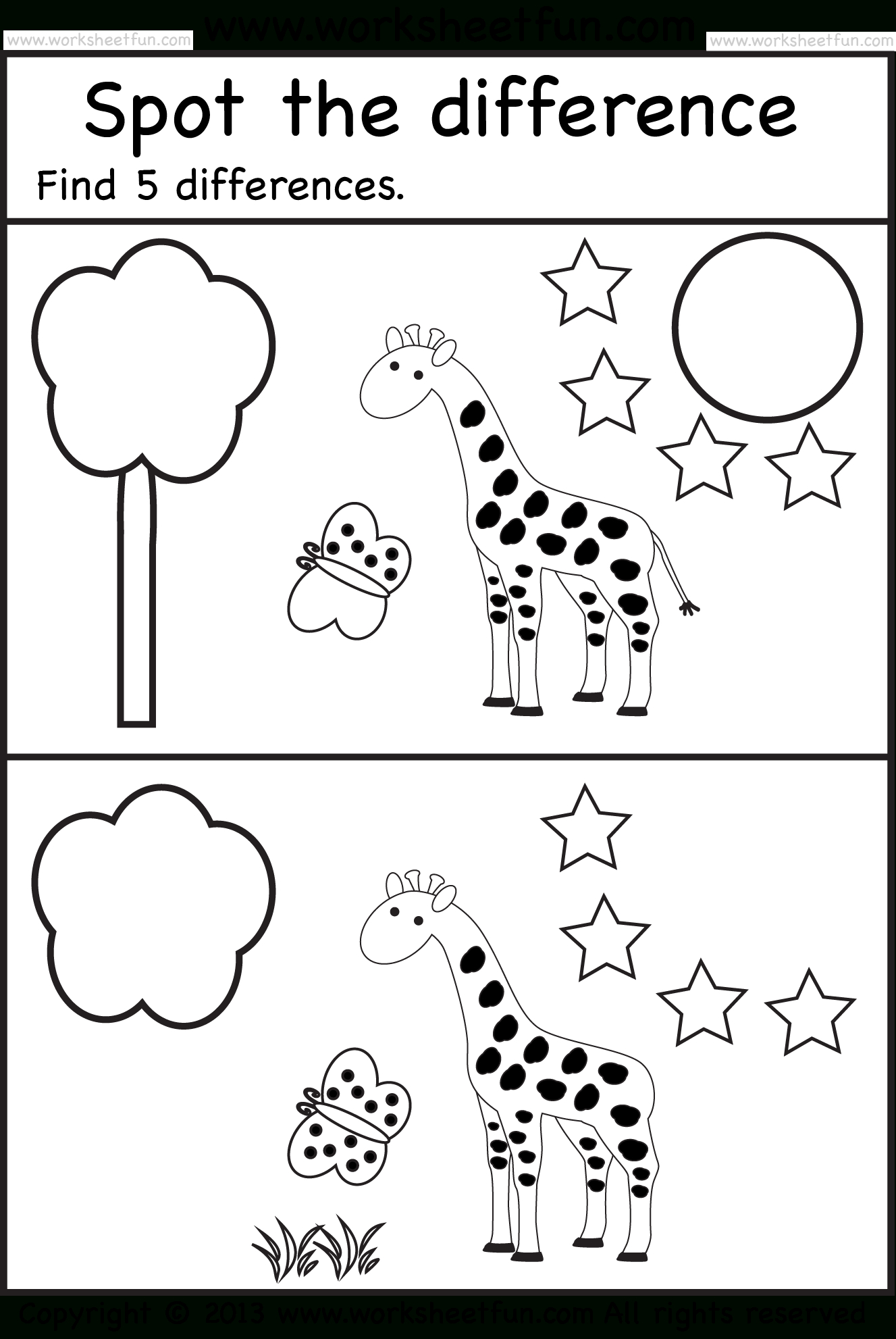 Spot The Difference | Actividades Escritas | Pinterest - Free Printable Spot The Difference For Kids