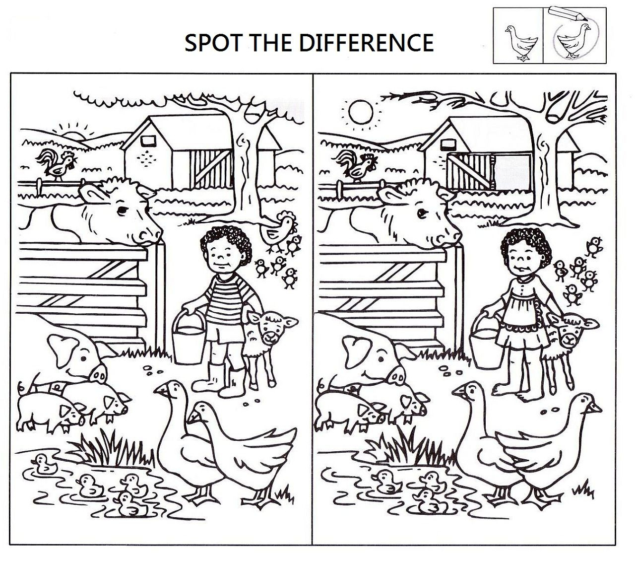 Spot The Difference Worksheets For Kids | Kids Worksheets Printable - Free Printable Spot The Difference Games For Adults