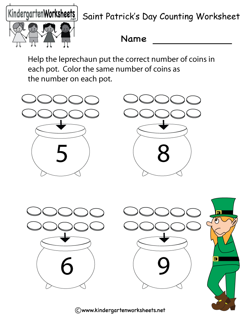 St Patrick Day Worksheets - Siteraven - Free Printable St Patrick Day Worksheets