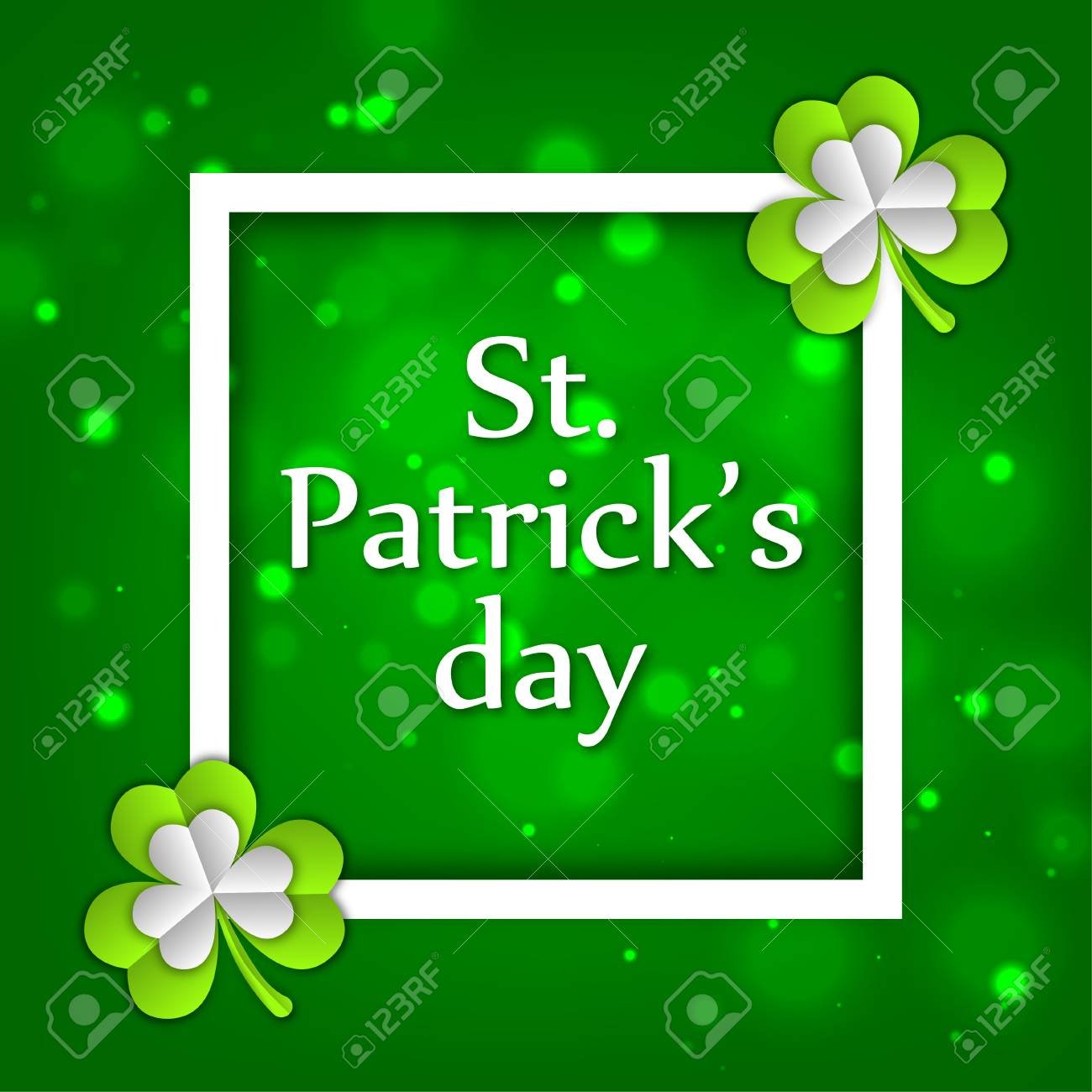 St.patrick 's Day Celebration. Clover Green Print For Postcard - Free Printable St Patrick's Day Banner