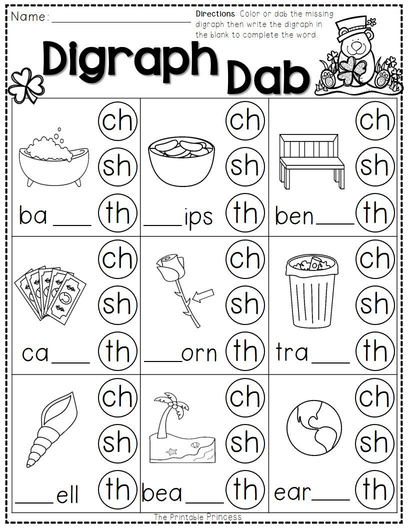 St. Patrick's Day Math And Literacy No Prep Freebie   Reading - Jolly Phonics Worksheets Free Printable