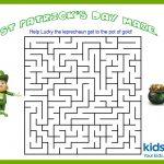 St Patrick's Day   Mazes   Free Printable | Kidspot: St Patrick's   Free Printable St Patrick's Day Mazes