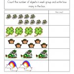 St. Patrick's Day Worksheets: St. Patrick's Day Counting Practice   Free Printable St Patrick's Day Mazes