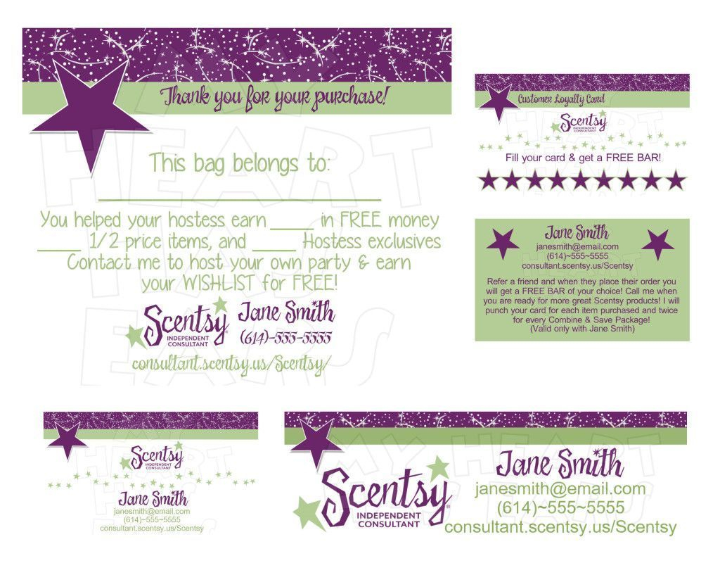 Standard Printable Scentsy Business Cards Online | Business Cards - Free Printable Scentsy Business Cards