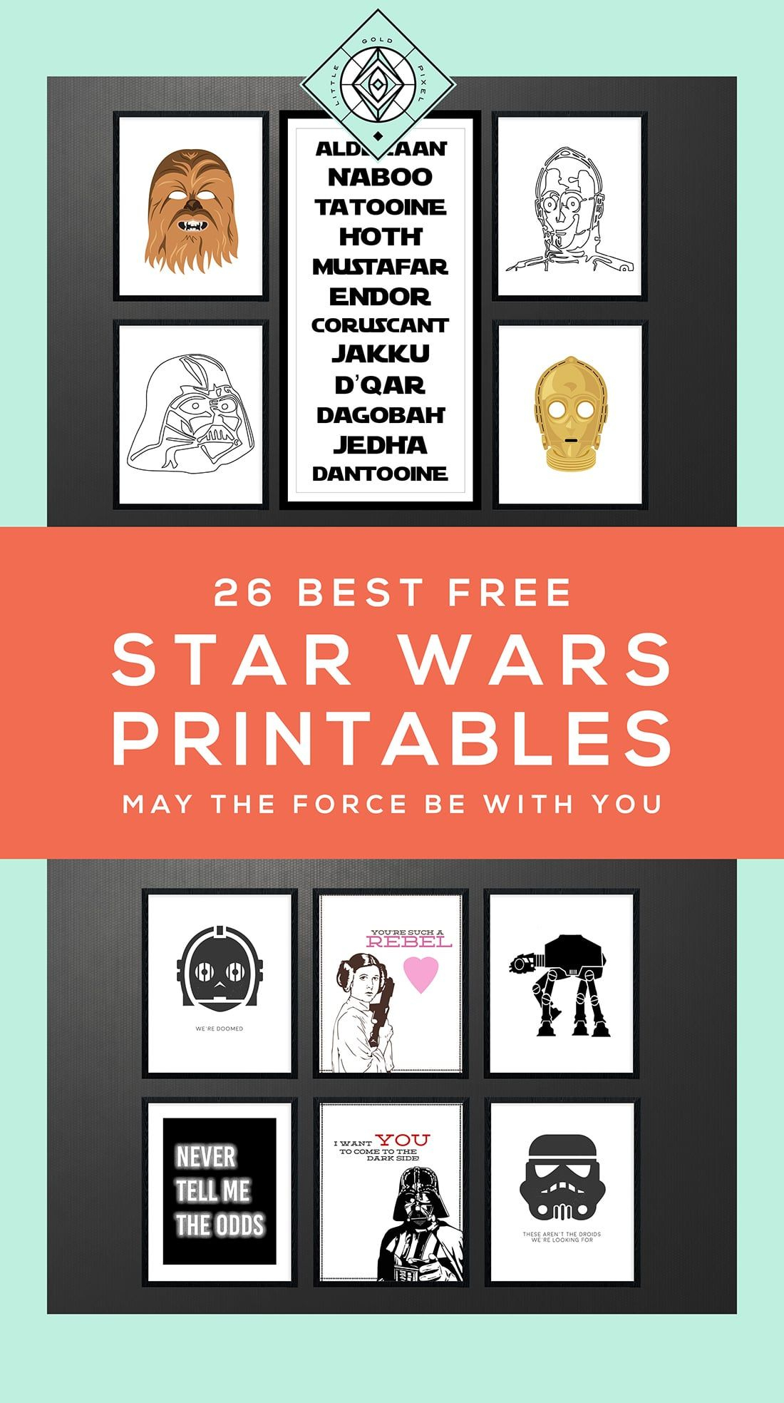 Star Wars Free Printables • A Roundup | Free Printables • Roundups - Free Printable Star Wars Baby Shower Invites