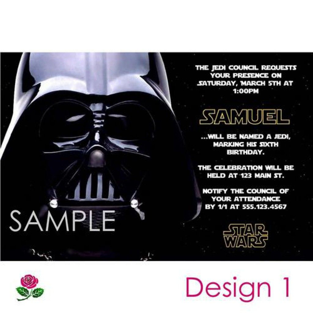 Star Wars Party Invitations Free Printable 5 | Enrique | Pinterest - Star Wars Invitations Free Printable