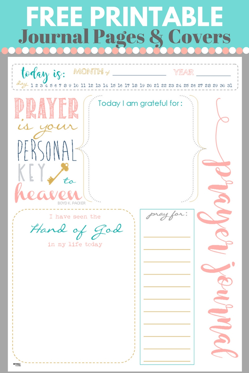 Start A Prayer Journal For More Meaningful Prayers: Free Printables!!! - Free Printable Journal Pages Lined