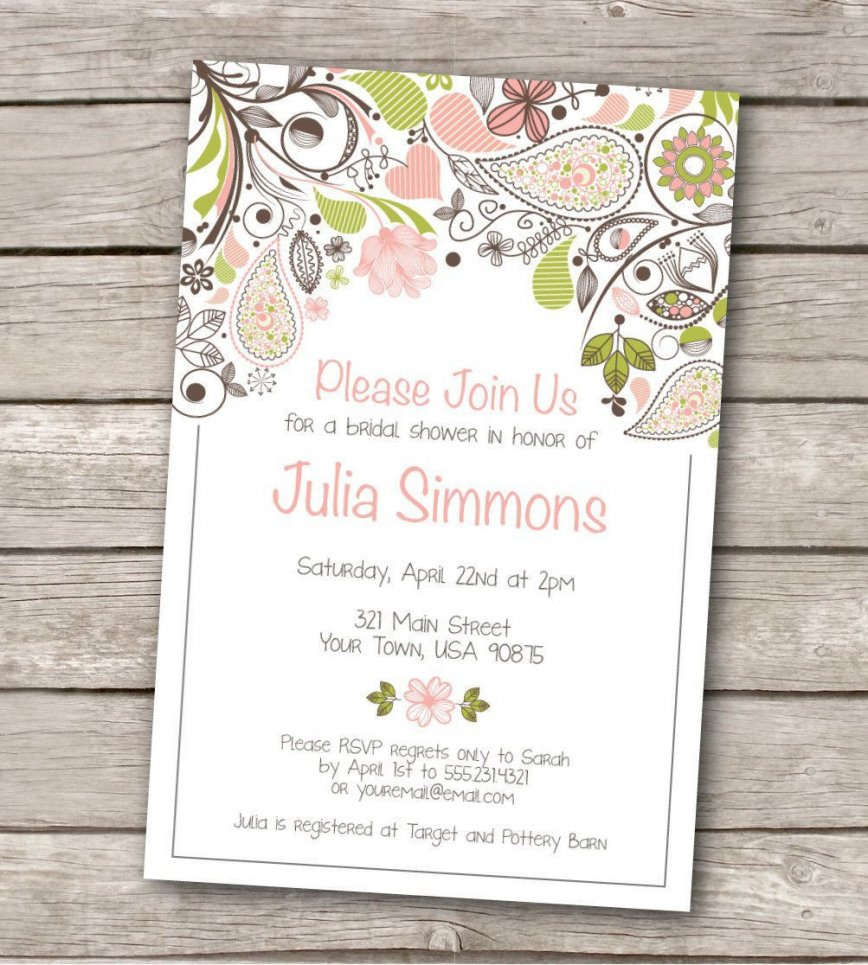 Stirring Wedding Shower Invitation Templates Invitations Bridal - Free Printable Bridal Shower Invitations