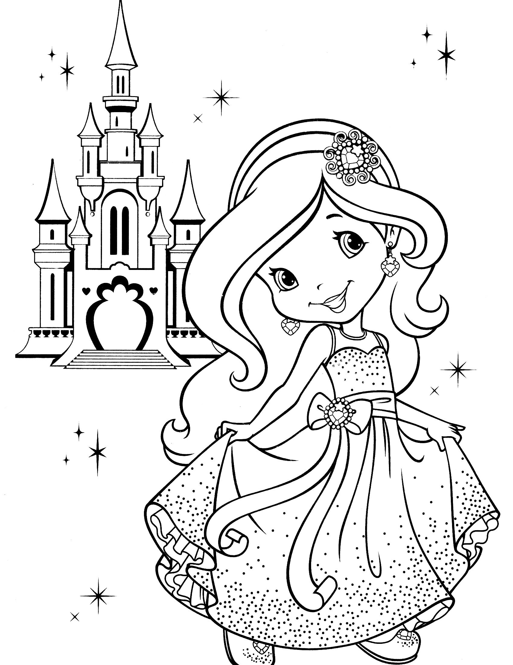 Strawberry Shortcake Coloring Page | Kids Kleuren - Strawberry Shortcake Coloring Pages Free Printable
