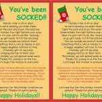 Strong Armor: Christmas Socking   You Ve Been Socked Free Printable