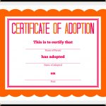 Stuffed Animal Adoption Certificate   Free Printable Stuffed Animal Adoption Certificate