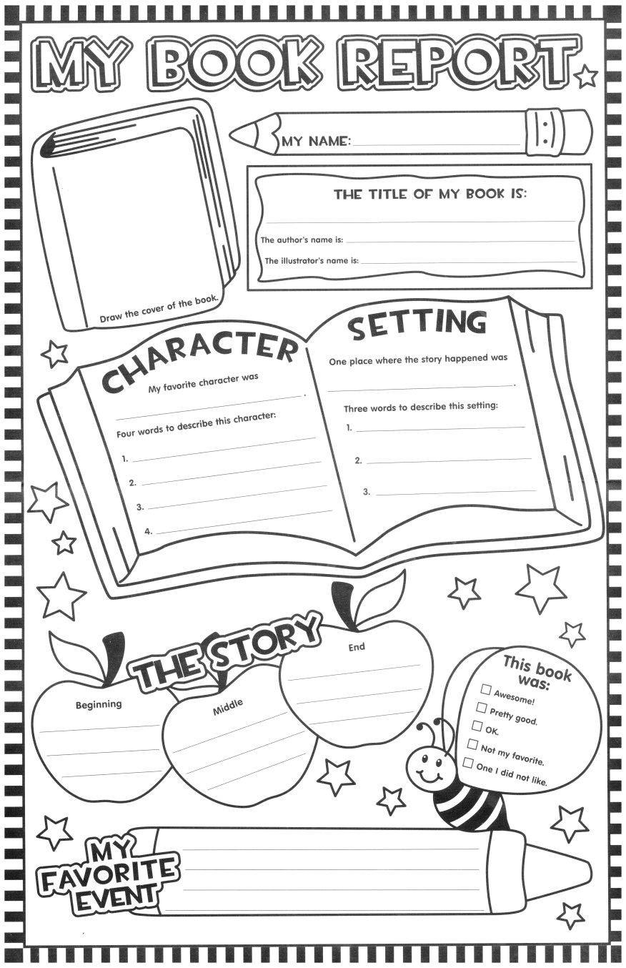 Such A Fun Looking Page For The Kids To Fill Out After Reading A - Free Printable Kindergarten Level Books