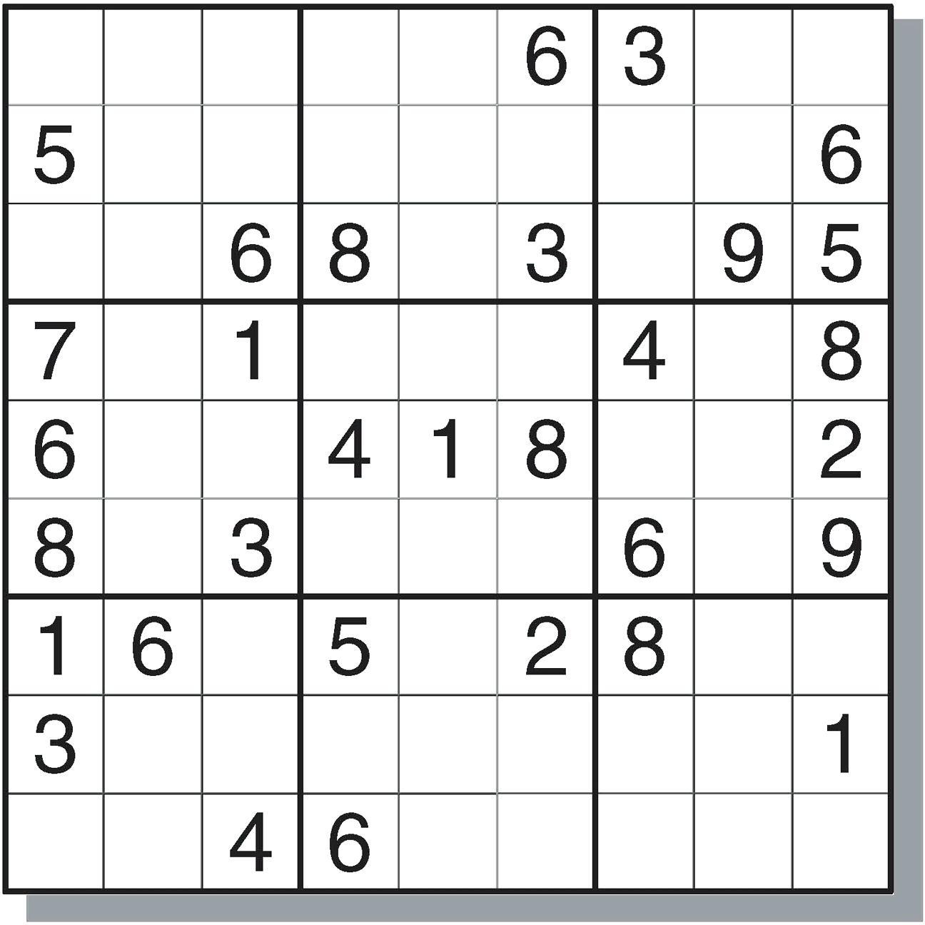Sudoku Online - Ecosia - Free Printable Sudoku With Answers