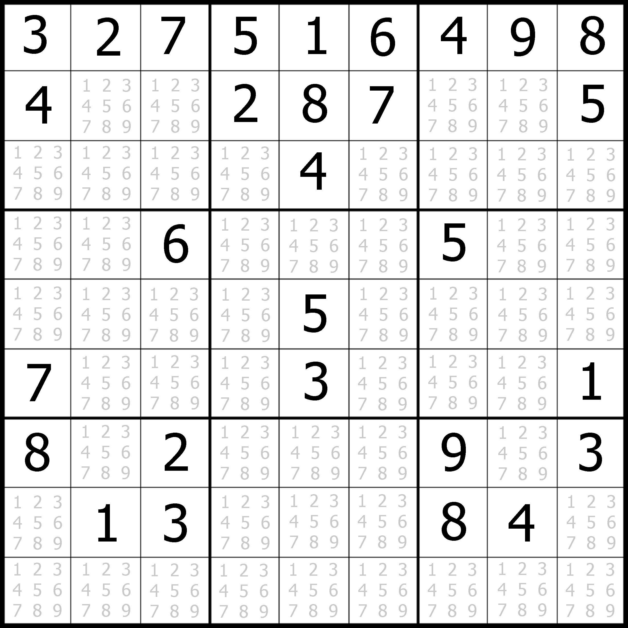 Sudoku Printable | Free, Medium, Printable Sudoku Puzzle #1 | My - Free Printable Sudoku With Answers