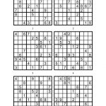 Sudoku Printable Medium 6 Per Pageaaron Woodyear   Issuu   Free Printable Sudoku 6 Per Page