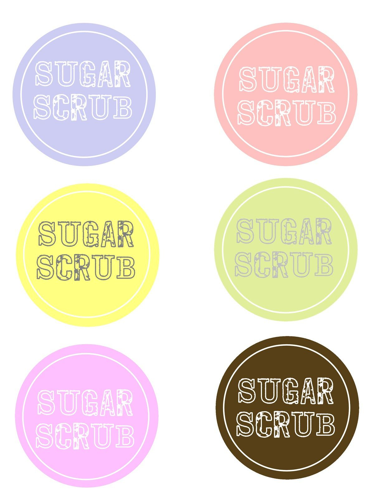 Sugar Scrub And Free Labels | Sugar Scrub Recipe | Sugar Scrub - Free Printable Sugar Scrub Labels