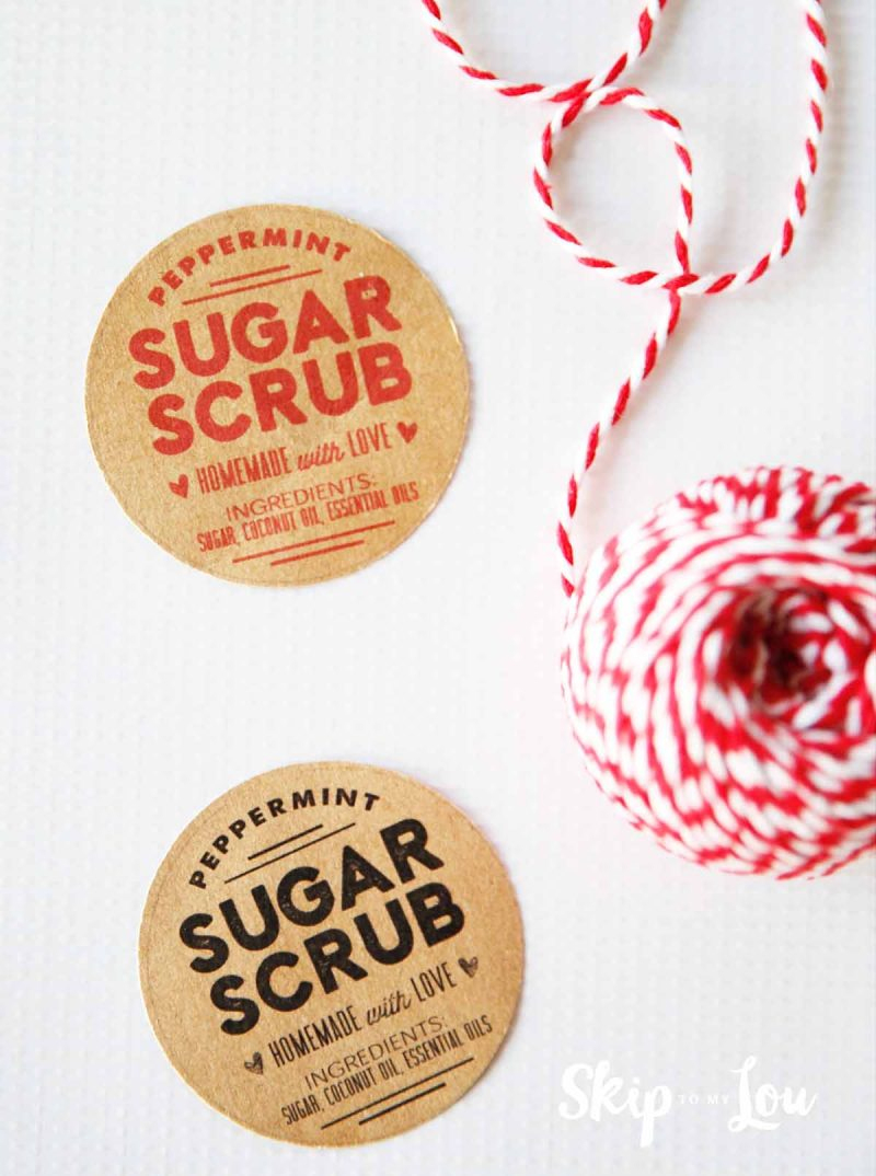 Sugar Scrub Recipe With Free Printable Labels | Skip To My Lou - Free Printable Sugar Scrub Labels