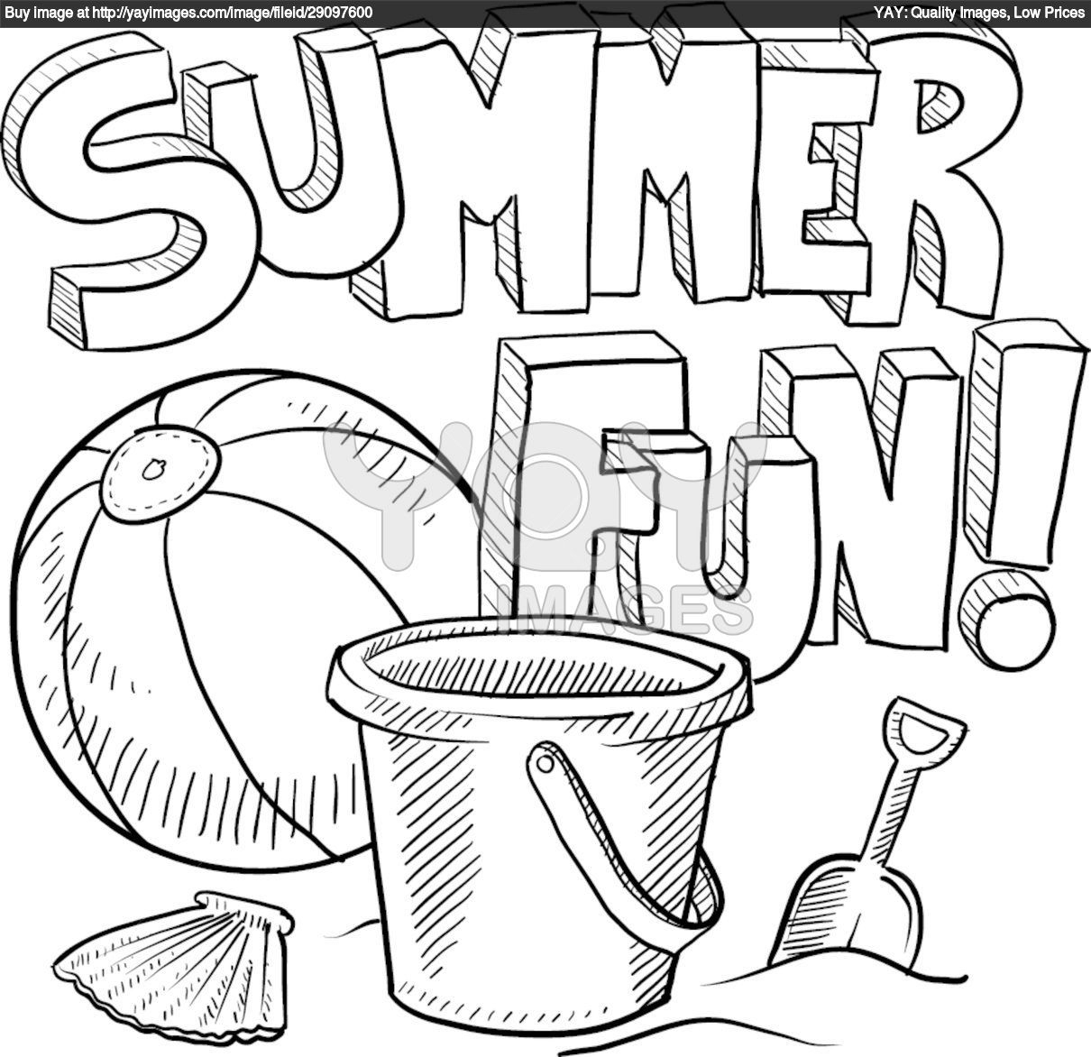 Summer Coloring Pages To Download And Print For Free | Kids Ideas - Free Printable Beach Coloring Pages