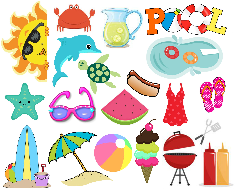 Summer Fun Planner Stickers | Printables | Pinterest | Planner - Free Printable Summer Clip Art