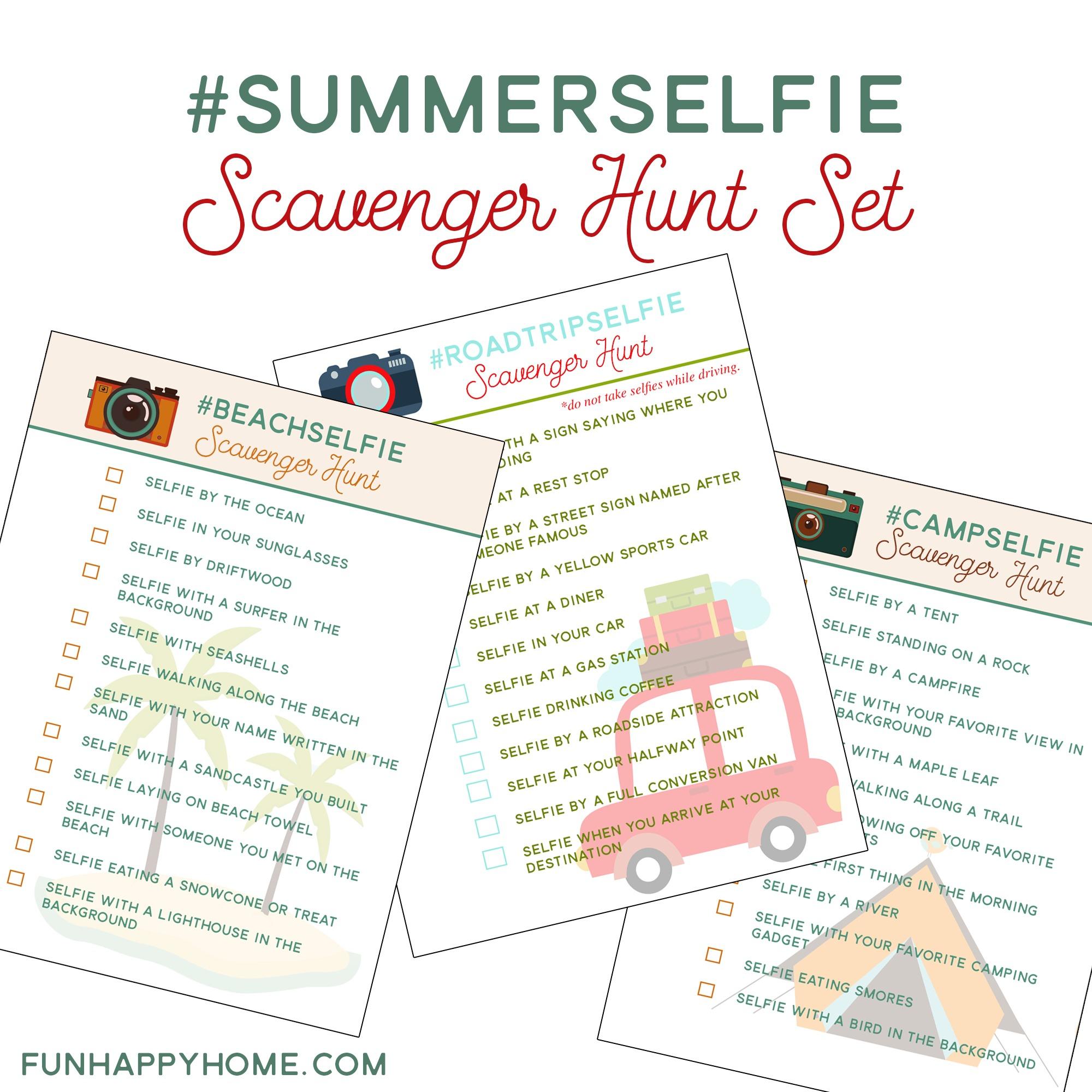 Summerselfie Scavenger Hunt {And Free Printables} - Fun Happy Home - Free Printable Scavenger Hunt