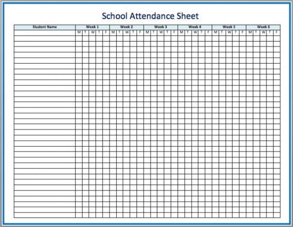 Sunday School Attendance Forms Printable Free Printable Attendance - Free Printable Sunday School Attendance Sheet