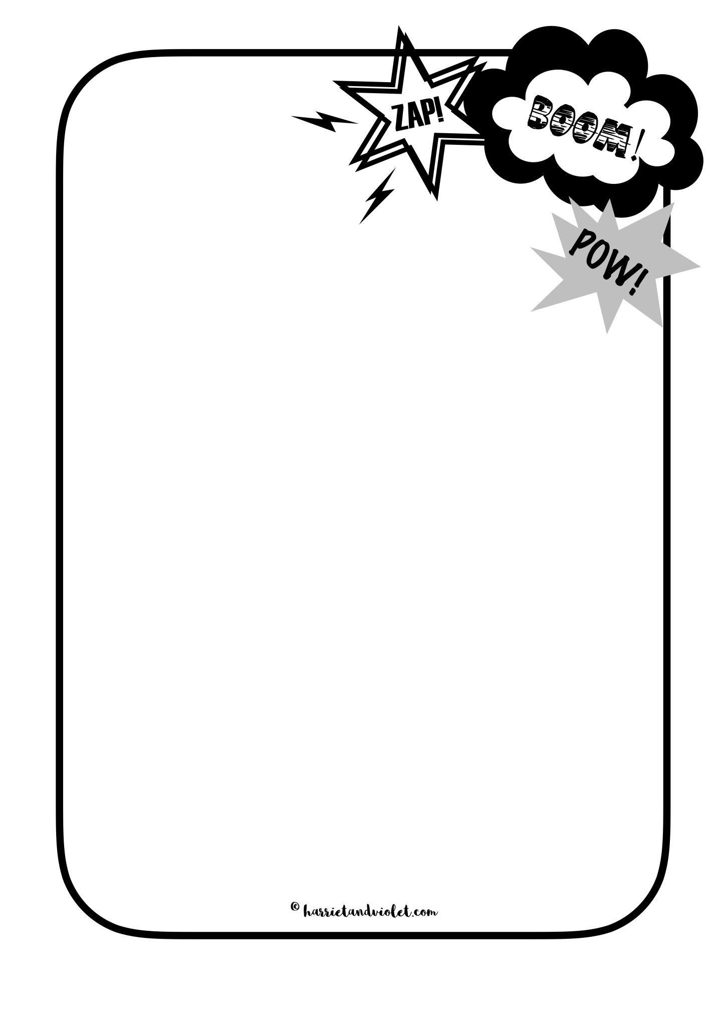 Superhero Border Paper Mark Making - Free Teaching Resources - Free Printable Bat Writing Paper