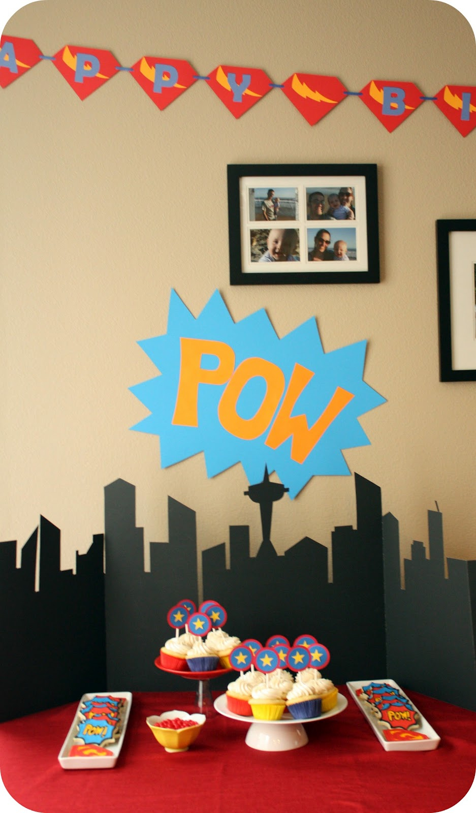 Superhero Party Treats And A Free Printable - Free Printable Superhero Skyline