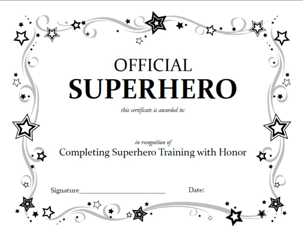 Superhero Squad Party Activities | Superhero Birthday Party Ideas - Free Printable Superhero Certificates