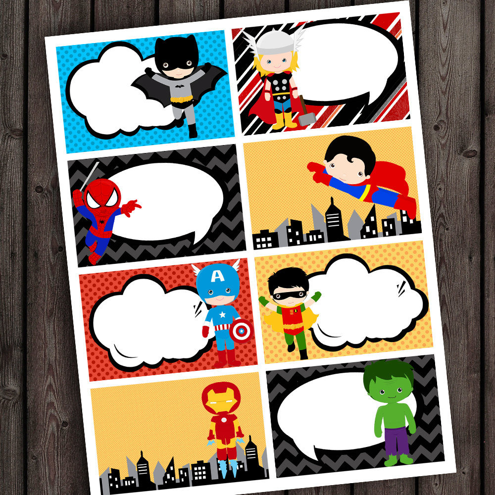 Superhero Teacher Tags Superhero Blank Tags Superhero Name | Etsy - Superhero Name Tags Free Printable