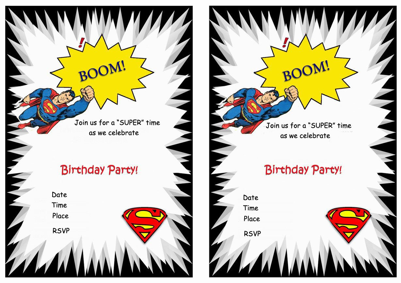 Superman Free Printable Birthday Party Invitations   Love It - Free Printable Superman Invitations