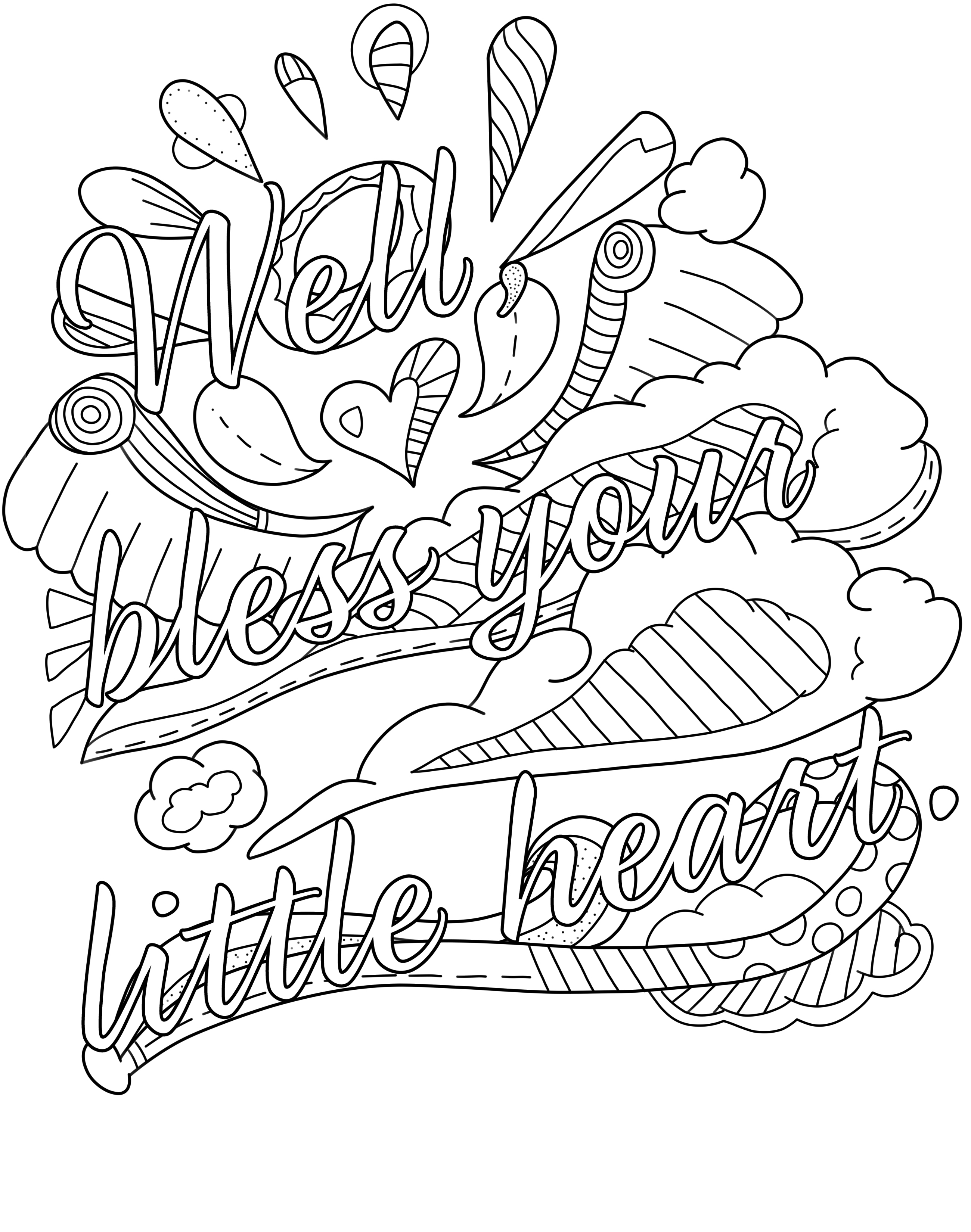 Swear Words Coloring Pages - Lezincnyc - Free Printable Coloring Pages For Adults Only Swear Words