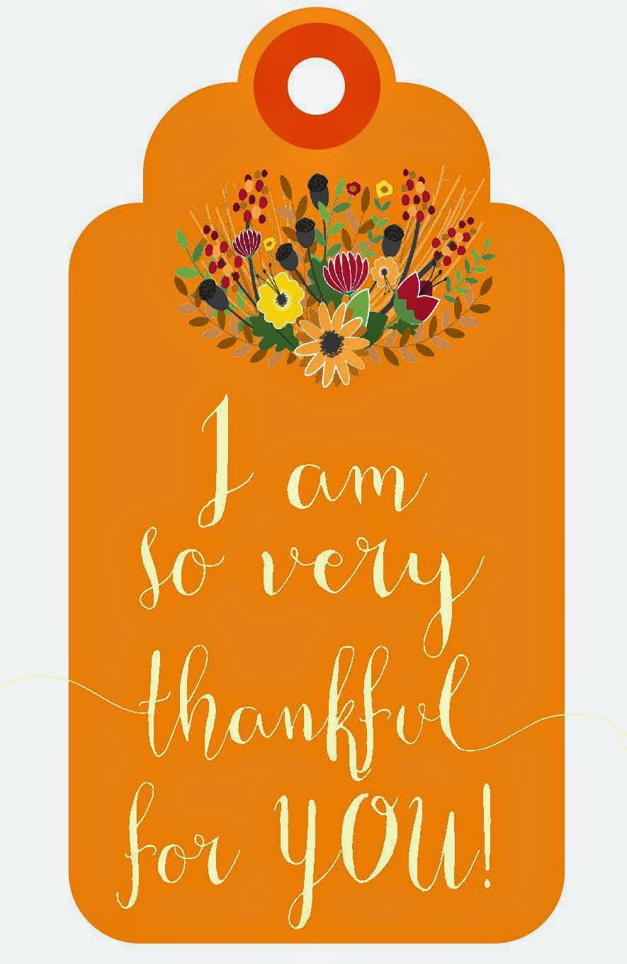 Sweet Blessings: Thankful For You Printables - Thankful For You Free Printable Tags