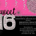Sweet Sixteen Invitations | Sweet 16 Invitation Templates With Black   Free Printable Sweet 16 Birthday Party Invitations