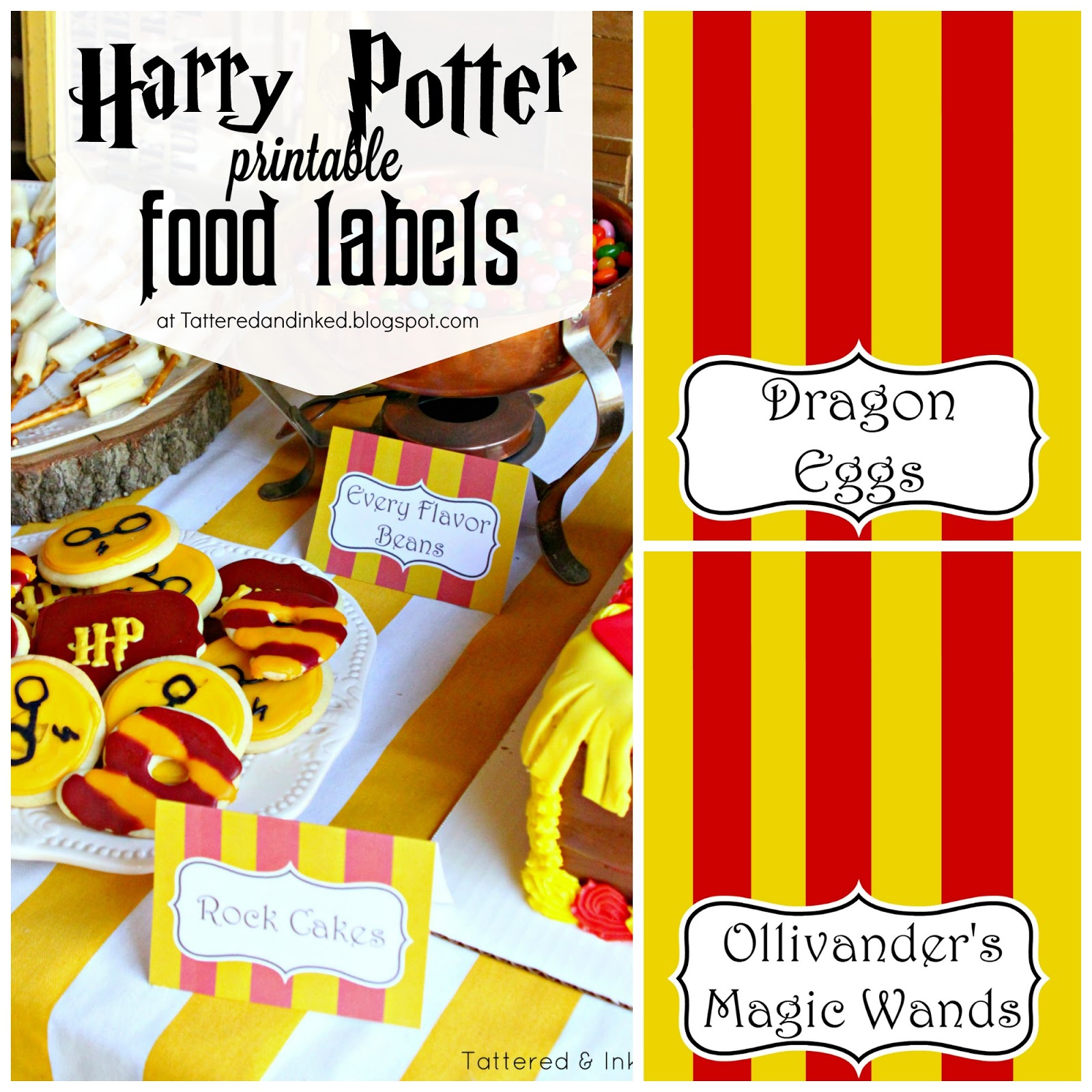 Tattered And Inked: Harry Potter Party Free Printables And Source List!! - Free Printable Harry Potter Pictures
