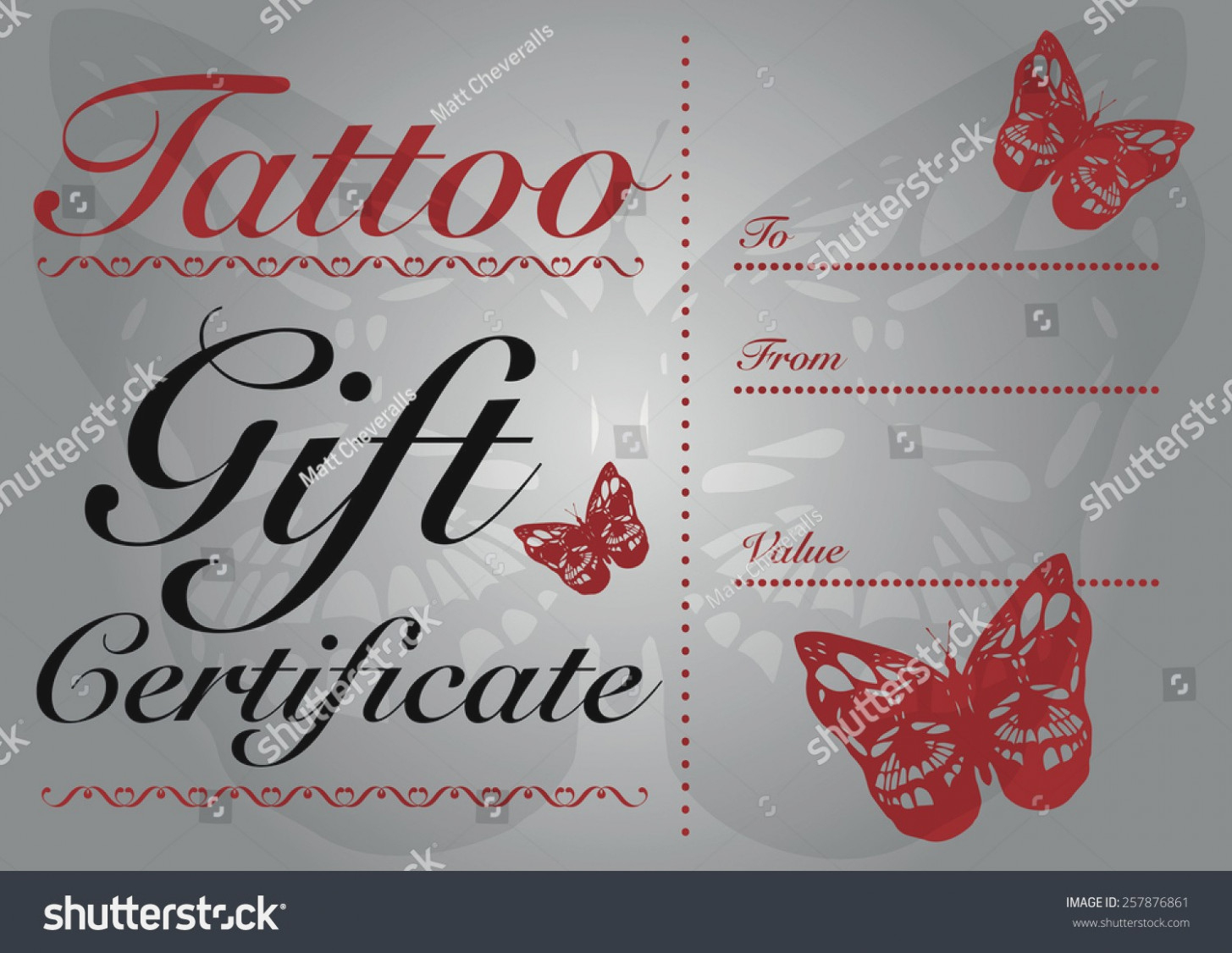 Tattoo Gift Certificate Template 13 Free Printable Templates - Free Printable Tattoo Gift Certificates