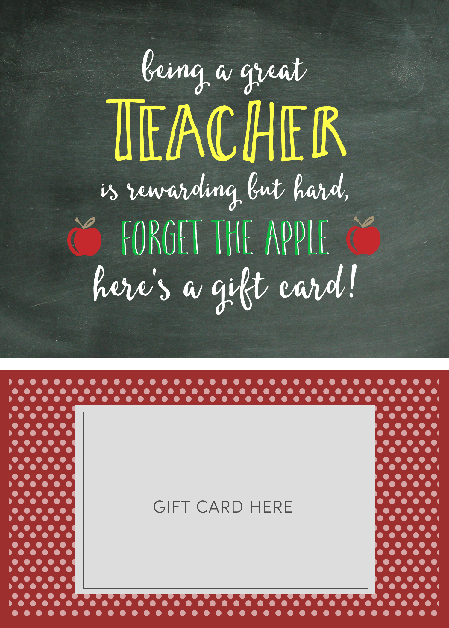 Teacher Appreciation Gift Card Holder - Lil' Luna - Free Printable Teacher Appreciation Greeting Cards
