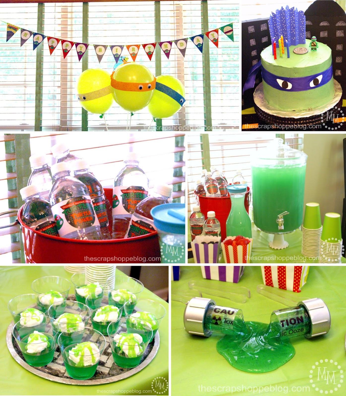 Teenage Mutant Ninja Turtle (Tmnt) Birthday Party - The Scrap Shoppe - Free Printable Ninja Turtle Birthday Banner