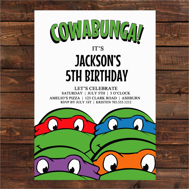 Teenage Mutant Ninja Turtles Birthday Invites   Birthdaybuzz - Free Printable Ninja Turtle Birthday Invitations