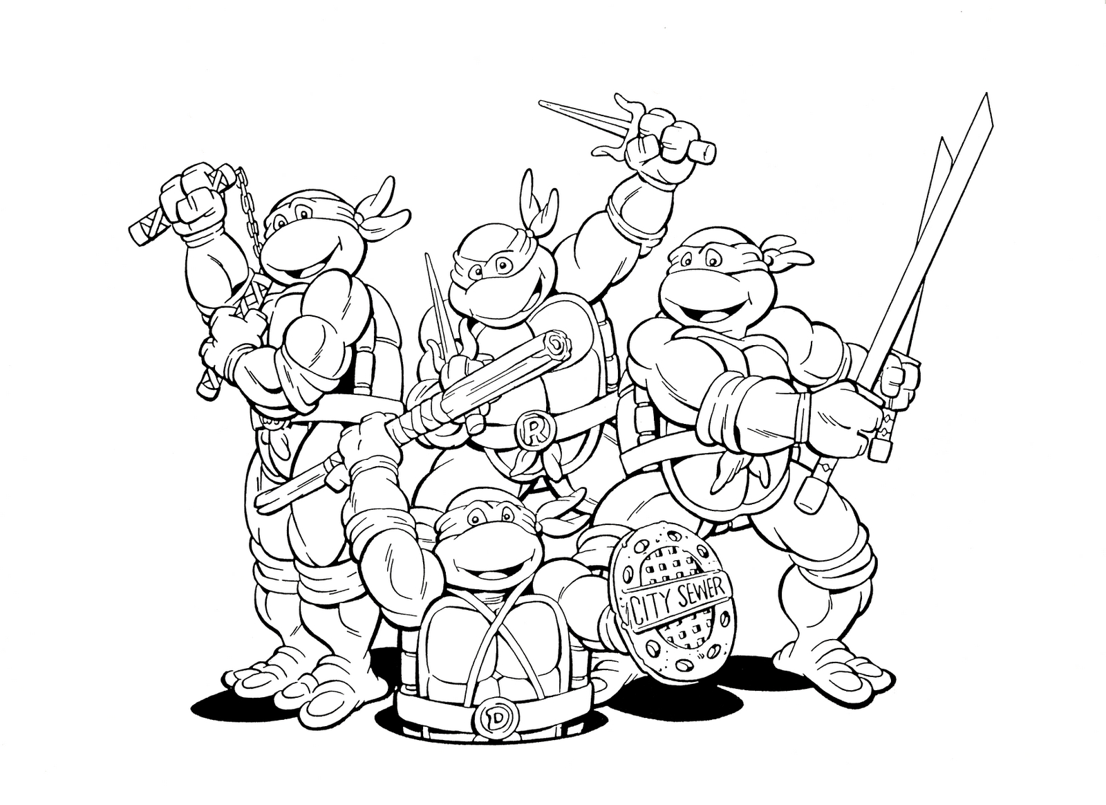 Teenage Mutant Ninja Turtles Coloring Pages - Teenage Mutant Ninja Turtles Free Printable Mask