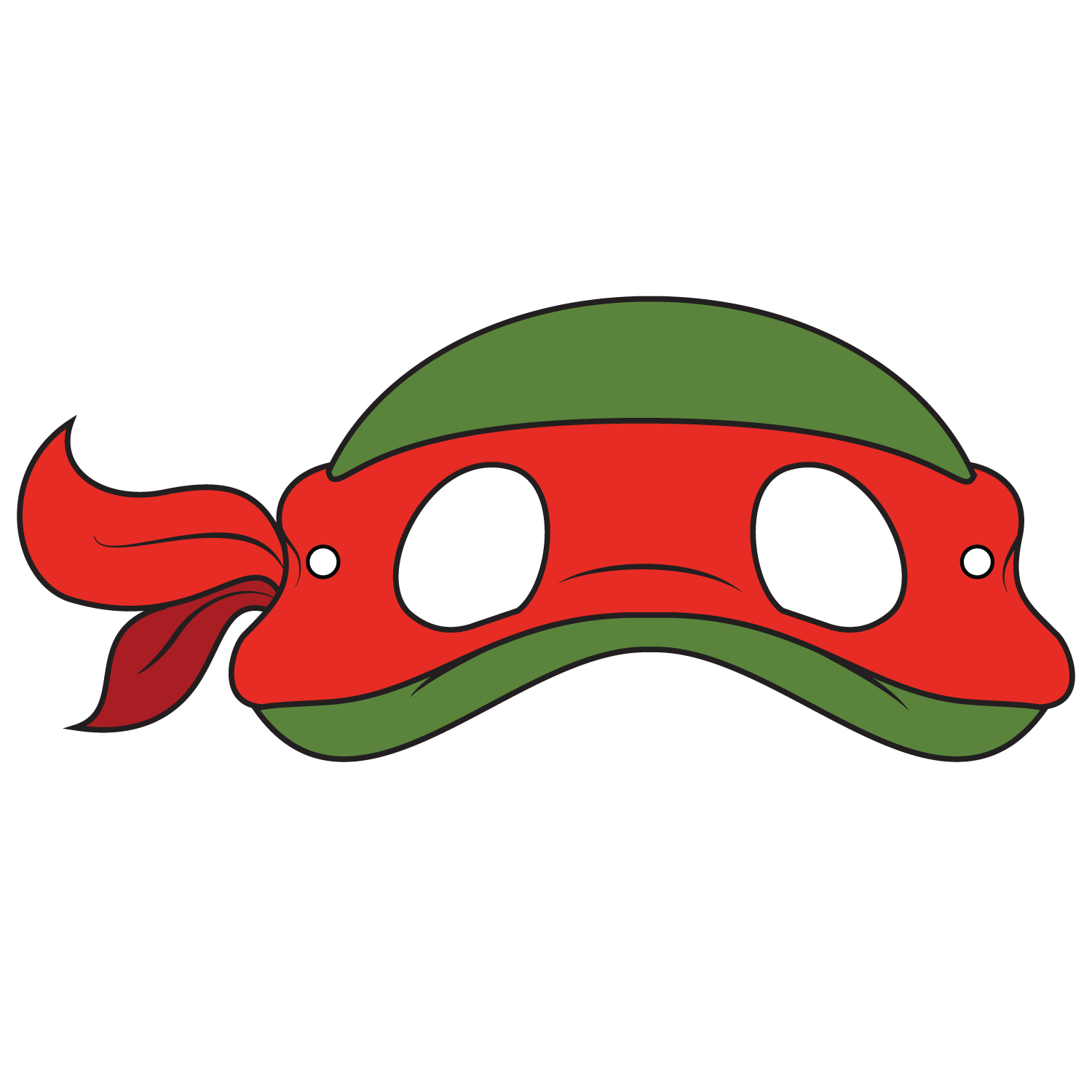 Teenage Mutant Ninja Turtles Mask Template | Free Printable - Teenage Mutant Ninja Turtles Free Printable Mask