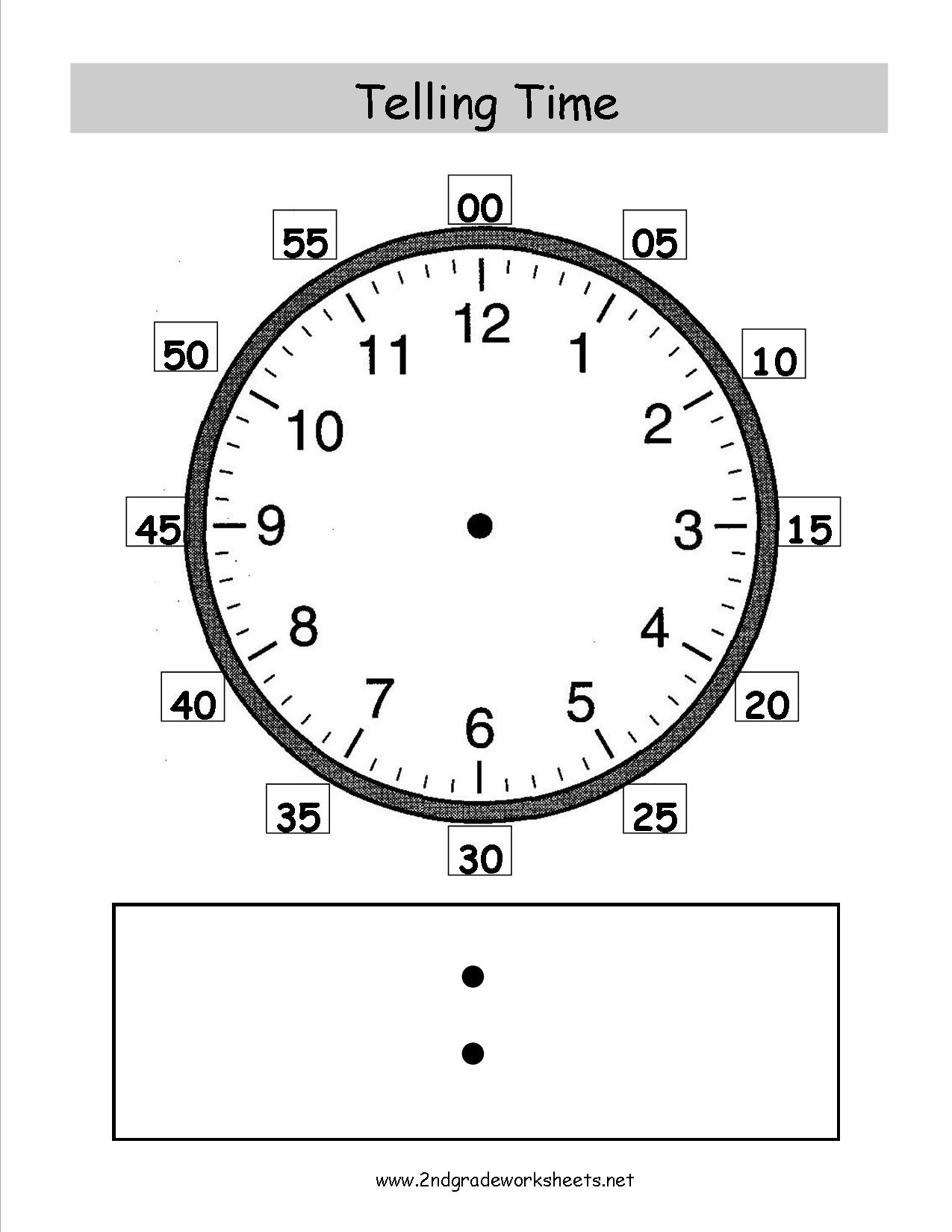 Telling And Writing Time Worksheets - Free Printable Telling Time Worksheets For 1St Grade